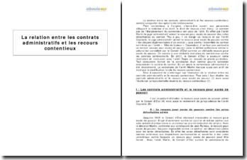 La relation entre les contrats administratifs et les recours contentieux