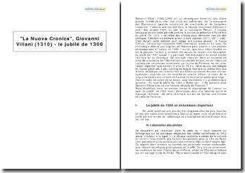 La Nuova Cronica, Giovanni Villani (1310) - le jubilé de 1300