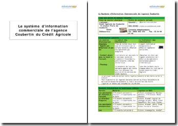 Le système d'information commerciale de l'agence Coubertin du Crédit Agricole