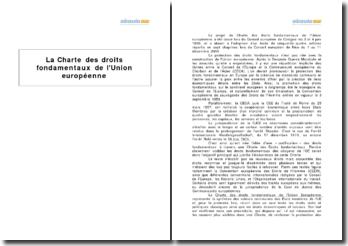 La Charte des droits fondamentaux de l'Union européenne (2010)