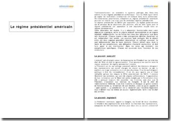 Le régime présidentiel américain (2010)