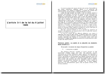 L'article 3-1 de la loi du 6 juillet 1989