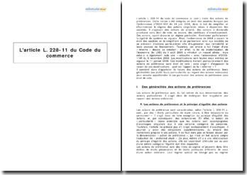 L'article L. 228-11 du Code du commerce