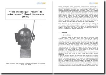 Tête mécanique, l'esprit de notre temps, Raoul Hausmann (1920)