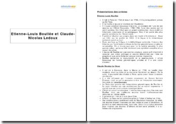 Etienne-Louis Boullée et Claude-Nicolas Ledoux