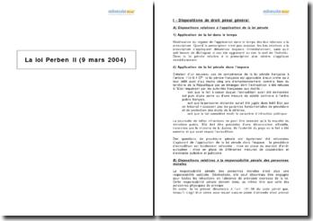 La loi Perben II (9 mars 2004)