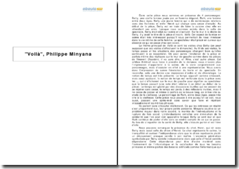 Voilà, Philippe Minyana