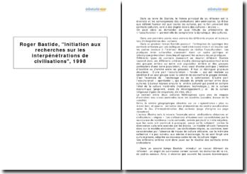 Roger Bastide, Initiation aux recherches sur les interpénétrations de civilisations, 1998