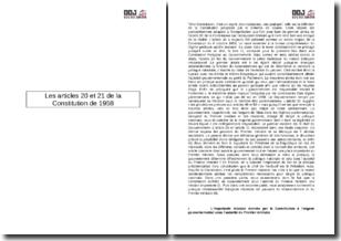 Les articles 20 et 21 de la Constitution de 1958