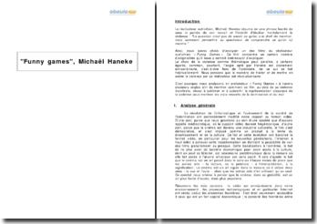 Analyse du film « Funny Games » de Michaël Haneke