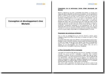 Conception et développement chez Michelin