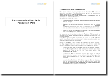 La communication de la Fondation PSG