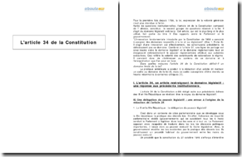 L'article 34 de la Constitution