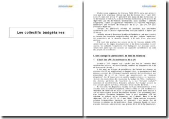 Les collectifs budgétaires
