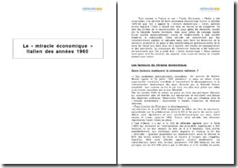 Le « miracle économique » italien des années 1960
