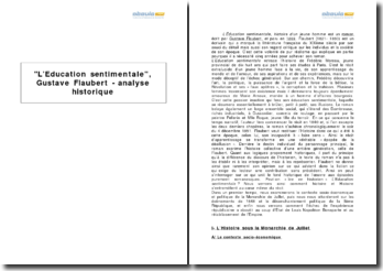L'Education sentimentale, Gustave Flaubert - analyse historique