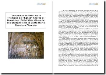 Le chemin du Salut ou le Triomphe de l'Eglise Andrea di Bonaiuto (1365-1368), Chapelle des Espagnols de la Santa Maria Novella à Florence