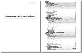 Introduction au droit du travail en France