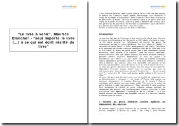 Le livre à venir, Maurice Blanchot - seul importe le livre (...) à ce qui est écrit réalité de livre