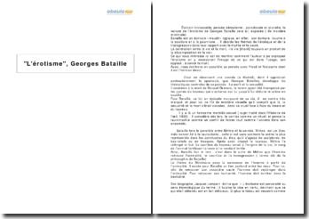 L'érotisme, Georges Bataille