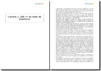 L'article L. 228-11 du Code de commerce
