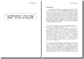 Les Misérables, Victor Hugo (1862) - la mort de Gavroche