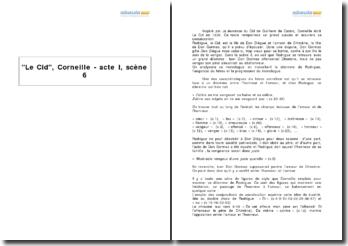 Le Cid, Corneille - acte I, scène 6