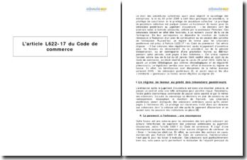 L'article L622-17 du Code de commerce