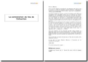 La contestation du lieu de l'infraction