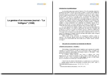 La genèse d'un nouveau journal - Le Voltigeur (1938)