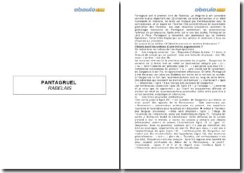 François Rabelais, Pantagruel, 1532 - chapitre VIII, la lettre de Gargantua