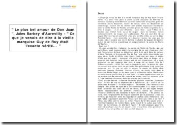 Le plus bel amour de Don Juan, Jules Barbey d'Aurevilly - Ce que je venais de dire à la vieille marquise Guy de Ruy était l'exacte vérité...