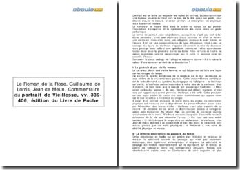 Guillaume de Lorris, Jean de Meun, Le roman de la rose, 1280 - le portrait de Vieillesse, vers 339-406