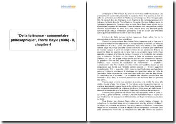De la tolérance - commentaire philosophique, Pierre Bayle (1686) - II, chapitre 4