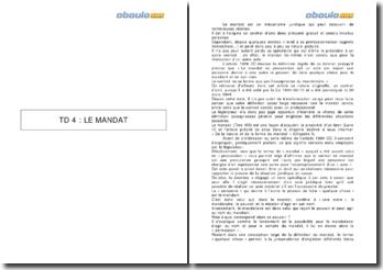 L'article 1984 du Code civil et la définition du mandat