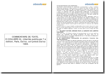 Libertés publiques, Claude-Albert Colliard (1989) - le jusnaturalisme et le positivisme