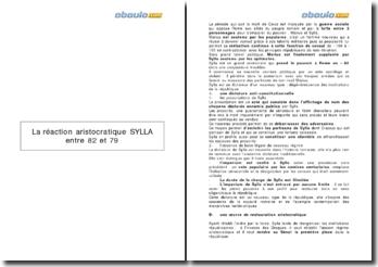 La dictature de Sylla et la réaction aristocratique (82-79 avt J.-C.)