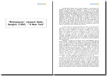 Éthiopiques, Léopold Sédar Senghor (1956) - A New York