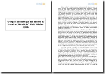 L'impact économique des conflits du travail au XXe siècle, Alain Vidalies (2010)