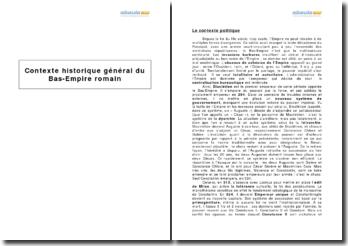 Contexte historique général du Bas-Empire romain