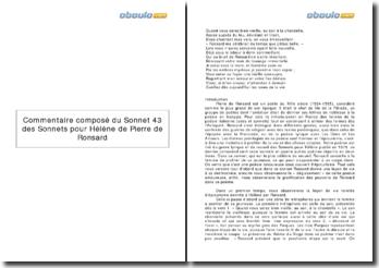 Sonnets pour Hélène, Pierre de Ronsard (1578) - sonnet XLIII, Quand vous serez bien vieille, au soir à la chandelle...