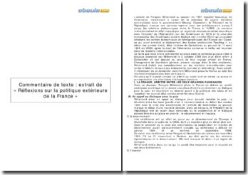 Réflexions sur la politique extérieure de la France - Introduction à vingt discours, François Mitterrand (1996) - discours prononcé le 2 octobre 1985 lors du voyage officiel de Gorbatchev