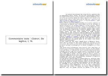De Legibus, Cicéron (53-51 avt J.-C.) - livre I, chapitre XVI: droit positif et droit naturel