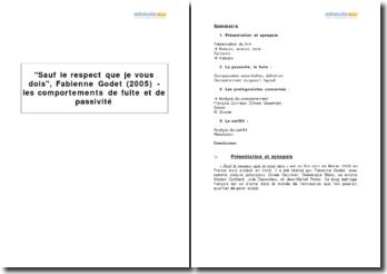 Sauf le respect que je vous dois, Fabienne Godet (2005) - les comportements de fuite et de passivité