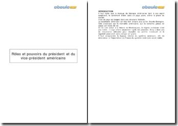 Rôles et pouvoirs du président et du vice-président américains