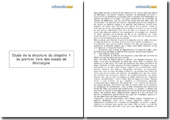 Les Essais, Michel de Montaigne - livre I, chapitre I