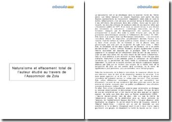 L'Assommoir, Emile Zola (1877) - naturalisme et effacement total de l'auteur
