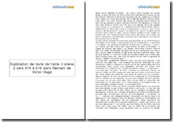 Hernani, Victor Hugo - acte II, scène 2 (vers 479-516)