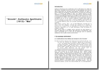 Alcools, Guillaume Apollinaire (1913) - Mai