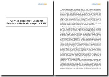 Le vice suprême, Joséphin Peladan - étude du chapitre XXIV